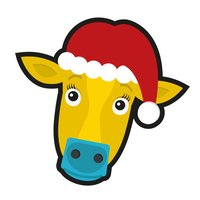 Bimstore Christmas Cow