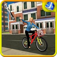 Newspaper Bicycle Girl & Bike Sim