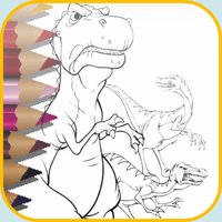 dinosaur world coloring - Discovery & dinosaurs Park Colorings Books free game and for kids dino zoo stars page
