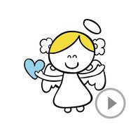 Animated Little Angel Stickers