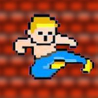 Young karate-martial arts self defense moves
