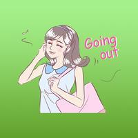 Zuri The Happy Girl English Stickers