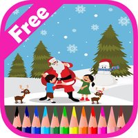 Santa Claus Coloring Book For Kids