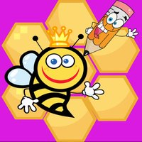 Cartoon Bees Coloring Book for Child