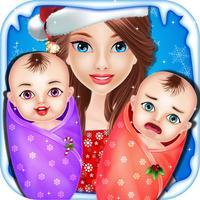 Christmas Twins NewBorn Baby Care - kids game