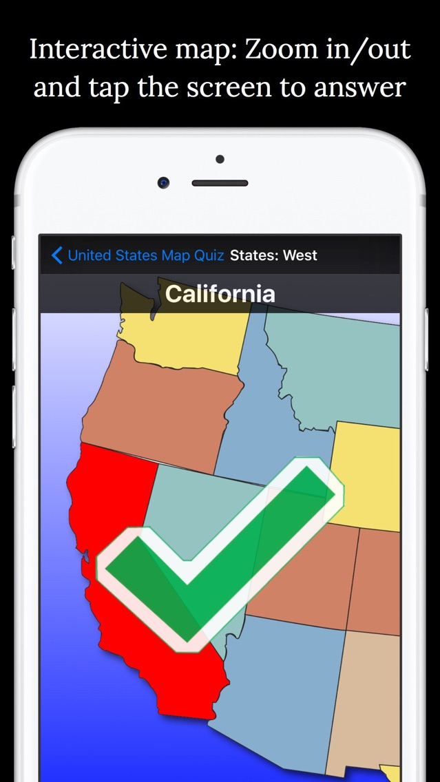 United States Map Quiz App for iPhone - Free Download United States ...