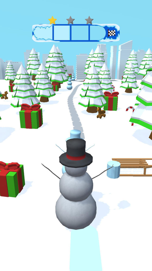 Snowman Slide App for iPhone - Free Download Snowman Slide for