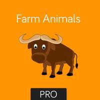 Farm Animals Flashcard for babies and preschoo Pro