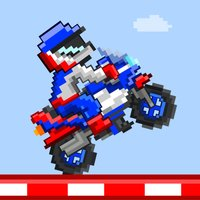 Track Riders - Free Retro 8-bit Pixel Motorcycle Games