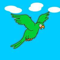 Caribbean Flappy Parrot