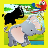 Animated Safari Animal-s in One Kid-s Puzzle Game
