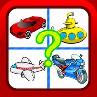 Vehicles Cartoon Fun Picture Quiz Puzzles for Kids