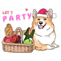 Cute Dogs in Christmas Sticker