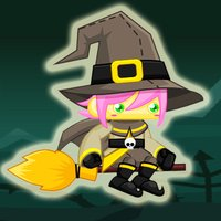 Floppy Witch Learn To Fly By Magic Broom In Halloween Night - Tap Tap Games