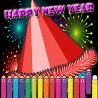Happy New Year Coloring for kids and Preschool