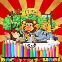 Circus Animal Coloring BookPages For Kids