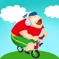 Fatty on a Bike Free - Spandex Seal