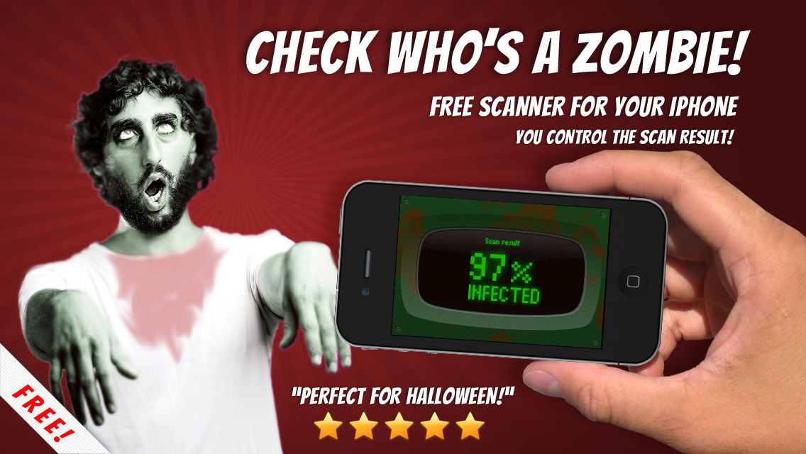 Zombies Scanner prank - test who's a Zombie using this free