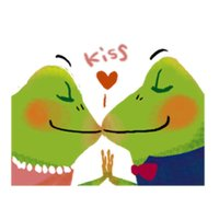 Frog and Love Sticker