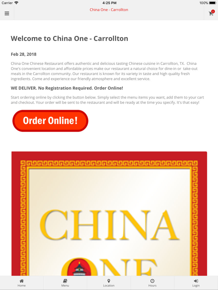 China One Carrollton App For Iphone Free Download China One Carrollton For Iphone Ipad At Apppure