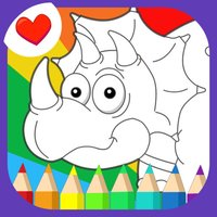 Cute Dino Coloring - Drawing Painting Graffiti Dino Picture Book