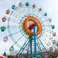 Theme Park Fun Swings Ride In Amusement Park