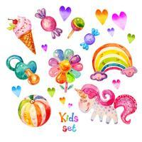 Unicorn Rainbow Stickers