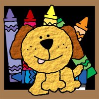 Dog Animal Coloring BookPages  For Kids