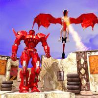 Dragon Simulator War Robot Fly