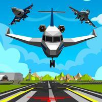 Plane Landing Parking Sim