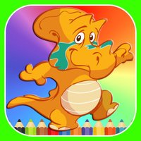 Dinosaurs Coloring Book & Sliding Pages Kids Games