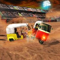 Tuk Tuk Derby Demolition Fight