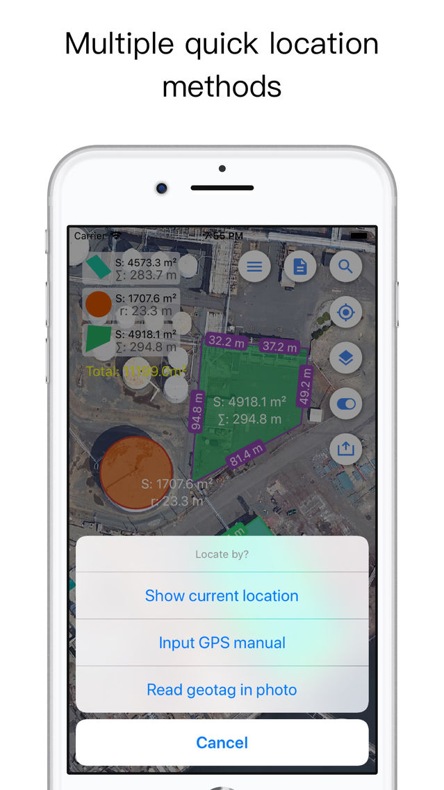 Planimeter for map measure App for iPhone - Free Download
