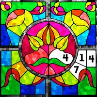 Stained Glass Color by Number