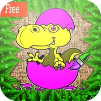 dino coloring book games : learning basic drawing and painting for kids free