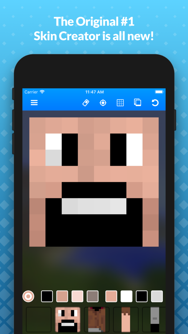 Skin Creator for Minecraft PE App for iPhone - Free Download Skin