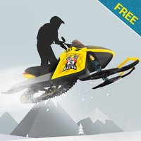 Snowmobile mountain trails hardcore racing Free