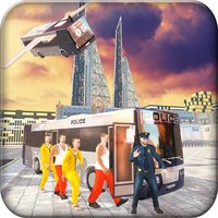 Flying Bus Transport Prisoner - Transfer Criminals into Jail in Transporter Bus Simulator