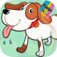 Paint drawings of dogs puppies - Educational games children