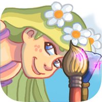 paint and discover the princess Rapunzel - Girls coloring game Rapunzel