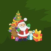 Santa Claus Stickers: HoHoHo