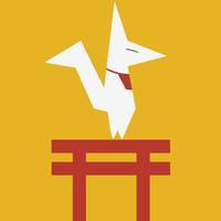 The Kitsune - Japanese Ukiyoe Style Fox's Arcade Hopper