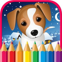 Puppy Dog Coloring Pages Animals Painting Drawing