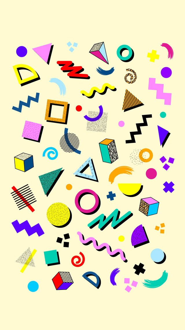 Retro 80s Shapes App for iPhone - Free Download Retro 80s