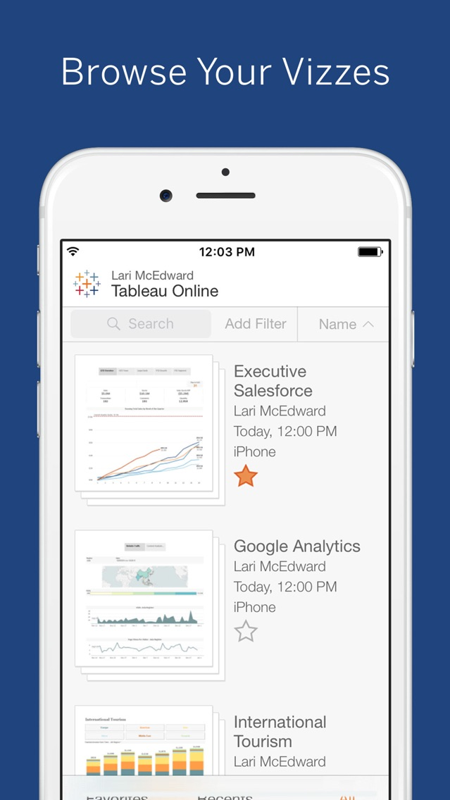 Tableau Mobile - Workspace ONE App for iPhone - Free
