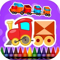 Coloring Book Trains