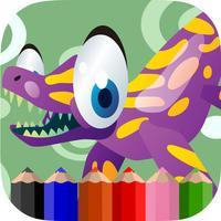 Dino Hunter Coloring Sea Dinosaur Edition