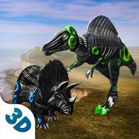 Dino Robot Survival Simulator