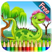 Dinosaur Coloring Book HD 2 -  Drawing and Painting Colorful for kids games free