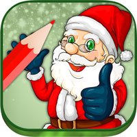 Santa Claus coloring pages xmas - Drawings to colour on christmas for kids 2 - 8 years old